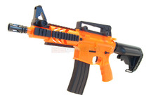 BROKEN//FAULTY-Well D3809 M4 fully auto Airsoft gun in orange/BLU/CLE