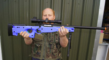 double eagle m59 sniper rifle with scope & bipod in blue