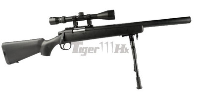 Well MB02 Spring Sniper Rifle with Scope & Bipod in Black