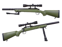 Well MB02 Spring Sniper Rifle with scope & bipod in Army Green