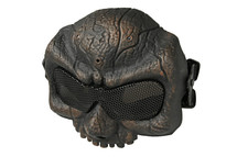 Half Skull Airsoft Mask MAS-58 in Copper