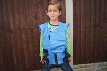 Kids Nato body armour vest in UN blue