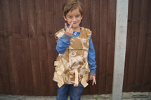 Kids Nato body armour vest in Desert DPM