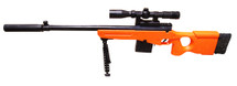 CrossFire 676-1 Spring Sniper Rifle with scope & bipod in Orange