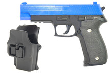 Galaxy G26H P226 Full Metal Pistol with Holster in blue