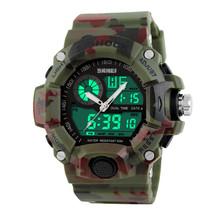 G Style Army Digital Rubber Sports Wrist Watch in Woodland Camo