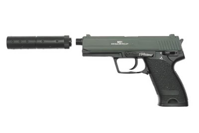 Double Eagle M81 AEP Pistol inc suppressor in Black