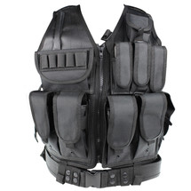WoSport Tactical Mesh Vest in Black