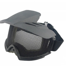 WoSport Desert Locust Mesh Goggles with Sunshade in Black