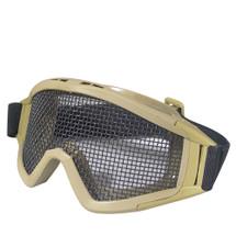 WoSport Desert Locust Mesh Goggles (Steel Mesh) in Tan