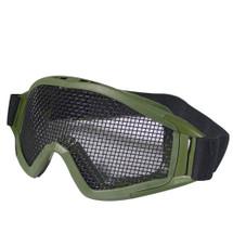WoSport Desert Locust Mesh Goggles (Steel Mesh) in Olive Green