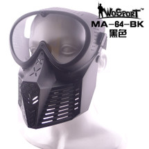 Wo Sport Simple Tactical Transformers Mask (Nylon Glasses) Black