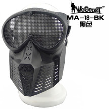Wo Sport Simple Tactical Transformers Mask (Steel Mesh) Black