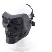 Wo Sport Skull Plastic Airsoft Mask V2 (Steel Mesh) Black