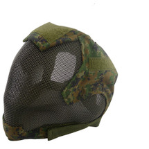 Wo Sport V6 Fencing Style Hood Full Head Mask in Digital Woodland