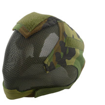 Wo Sport V6 Fencing Style Hood Full Head Mask in Woodland