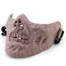 Wo Sport Lower Face Zombie Mask in Tan