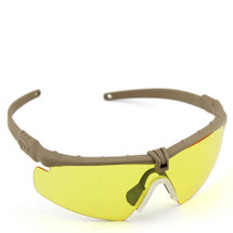 WoSport 2.0 Airsoft Glasses Tan Frame With Yellow Lens
