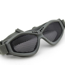 Wo Sport Large Mesh Airsoft Goggles in Grey