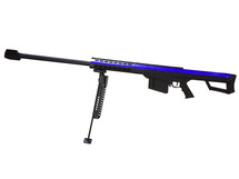 Galaxy M82A1 bolt action spring sniper rifle with bipod in blue/black