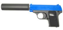 Galaxy G1A Full Metal BB Gun with Silencer in blue