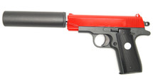 Galaxy G2A full metal pistol with silencer in Red