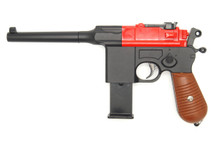 Galaxy G12 Broom Handle Mauser C96 Style pistol in Red