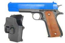 Galaxy G13H Full Metal BB Gun in Blue with Holster
