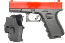 Galaxy G15H E17 Full Metal Pistol with Holster in Red