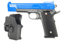 Galaxy G20H Full Metal M945 pistol in blue with holster