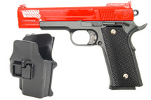 Galaxy G20H Full Metal M945 Pistol in Red with Holster