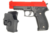 Galaxy G26H P226 Full Metal Pistol with Holster in Red