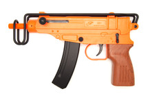 Double Eagle M37F VZ-61 BB gun with metal folding stock in Orange