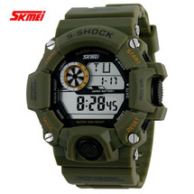 G Style Army Digital Rubber Wrist Watch in Army Green (nt)