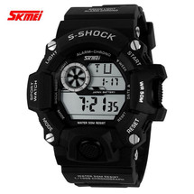 G Style Army Digital Rubber Wrist Watch in Black/White (nt)