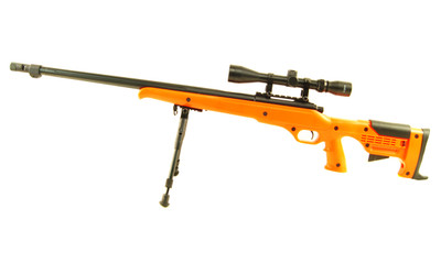 Well MB11 Airsoft Spring Sniper Rifle with scope & bipod in Orange