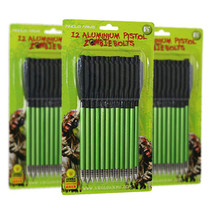"""Anglo Arms Zombie Aluminium Pistol Crossbow Bolts 12 x 6.5"""" in green"""
