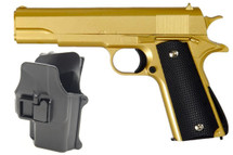 Galaxy G13H Full Metal BB Gun in Gold with Holster