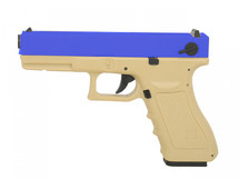 Cyma CM030 Electric Airsoft Pistol AEP in Blue and Tan