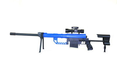 Galaxy G35 Spring Powered Sniper Rifle with scope & bipod in Blue