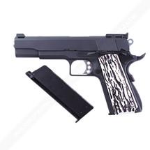 WE M1911 C Version Full Metal GBB in Black With Custom Grip