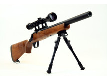 Well MB02 Spring Sniper Rifle with scope & bipod in Wood Finish