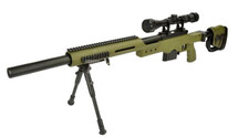 Well MB4411 Spring Sniper Rifle with scope & bipod in Olive Green