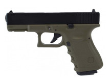 KJ Works G32C MS Green Metal Slide GBB Airsoft Pistol in Green (KP-03)