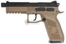 ASG KJW CZ P-09 GBB Pistol in Tan