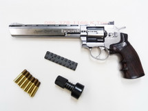 "WinGun Metal Version SV 6mm CO2 Revolver 8"" in Silver"