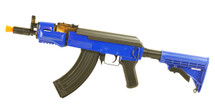 Double Eagle M901B AK47 Adjustable Stock in Blue
