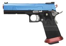 Armorer Works Custom Hi-Capa Split Blue Slide  Red Barrel