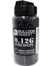 Bulldog impact bb pellets 2000 x 0.12g speed loader in black