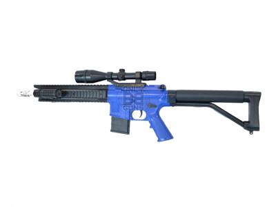 CYMA P137 BB gun with scope in blue/black